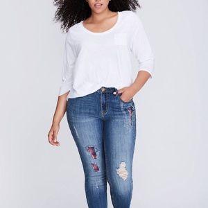 Lane Bryant Plaid Skinny Jeans